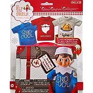 Elf on the Shelf Graphic Tee Multipack SnoCool 3 elf-sized t-shirts and keepsake tin suitcase