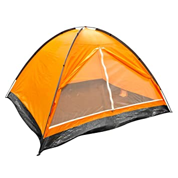 Milestone Two Person Dome Waterproof C&ing Festival Tent Orange With Carry  sc 1 st  Amazon.com & Amazon.com : Milestone Two Person Dome Waterproof Camping Festival ...