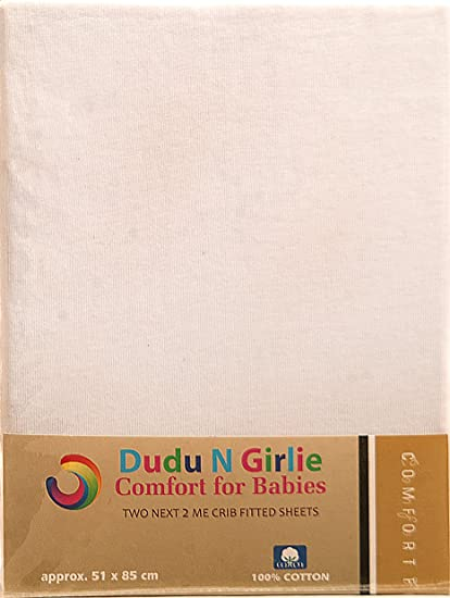 50 cm x 100 cm Dudu N Girlie Cotton Thick Jersey Mini Cot Fitted Sheet Pink