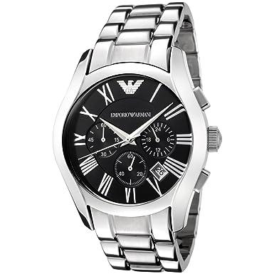 8b108bc183 Amazon.com: Emporio Armani Men's AR0673 Stainless Steel Chronograph Watch:  Armani: Watches