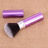 Retractable Face Kabuki Brush Round Powder Makeup