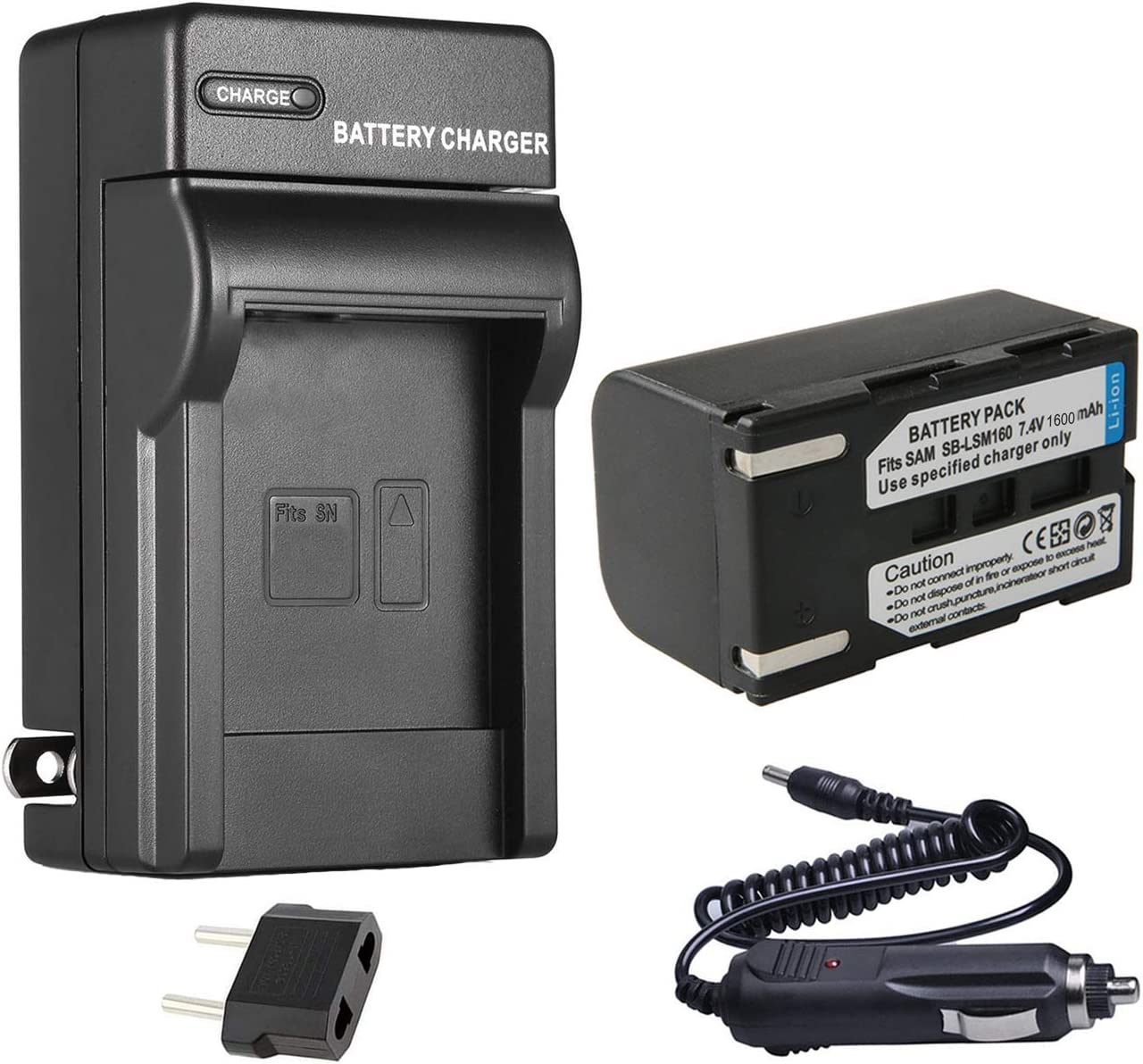 VP-D371i Battery Pack VP-D371W USB Charger for Samsung VP-D371 VP-D371Wi Digital Camcorder
