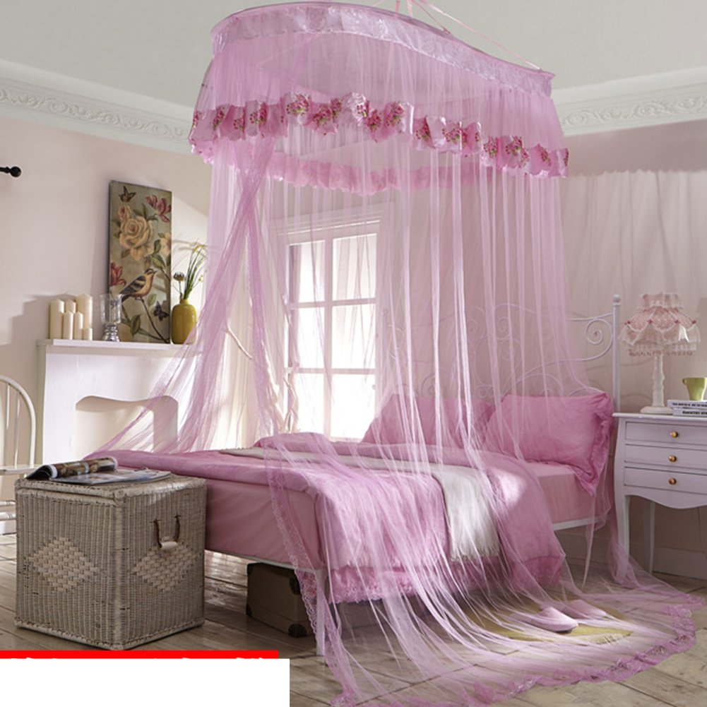 Elegant Double Sucker,Princess Hanging Mosquito Nets/Fashion Three Open The Door£¬thickened To Wear Lace Mosquito Nets/Simple Daughter Bed To Increase Mosquito Nets-J D by fdgg