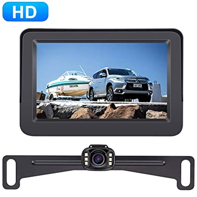 Amtifo A2 HD 720 Backup Camera with 4.3 Inch Monitor for Cars,Trucks,SUVs,Vans Licence Plate Rear View Hitch Camera,Easy Installation High-Speed Observation System: Electronics