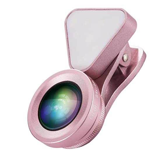 Amazon com: MeriCino Camera Lens for iPhone with Fill Light, Clip-on