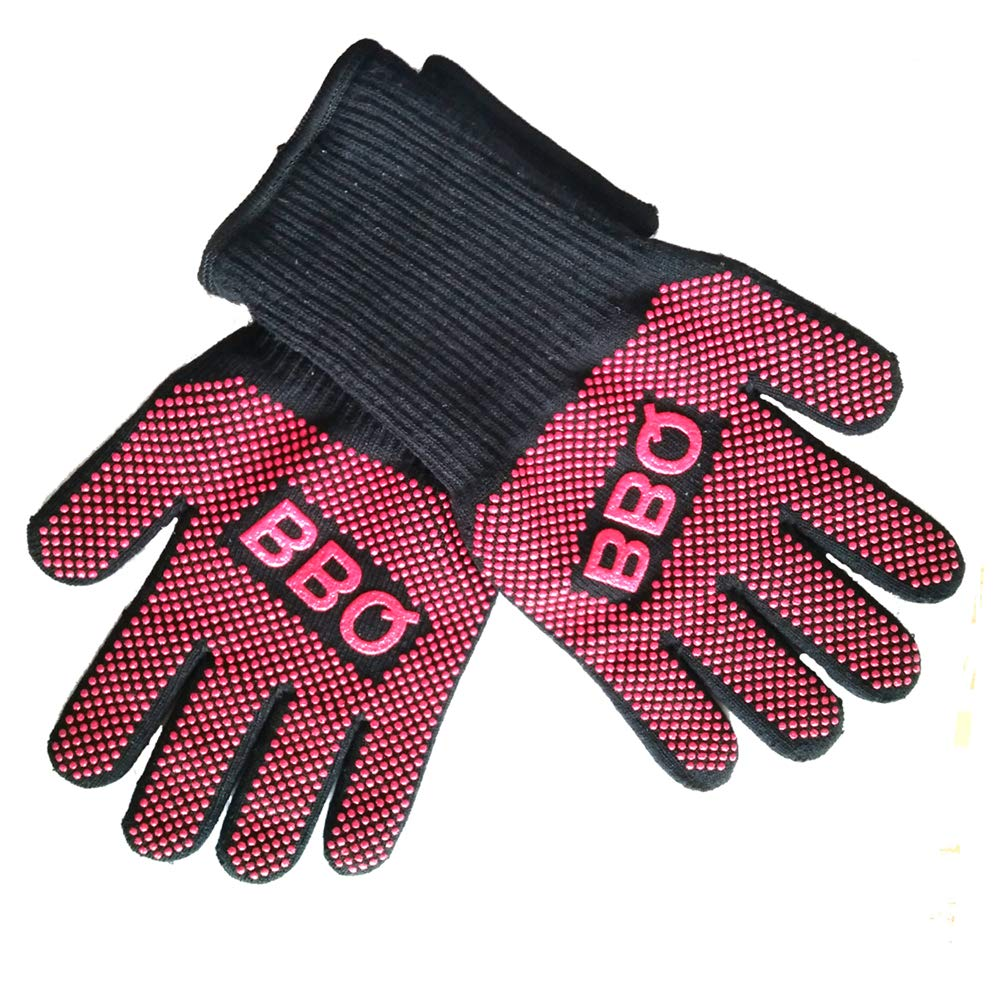 BBQ Gloves, Hot Surface Handler, Oven Gloves, Standard Level 3, for Baking, Grilling, Welding 1 Pair of
