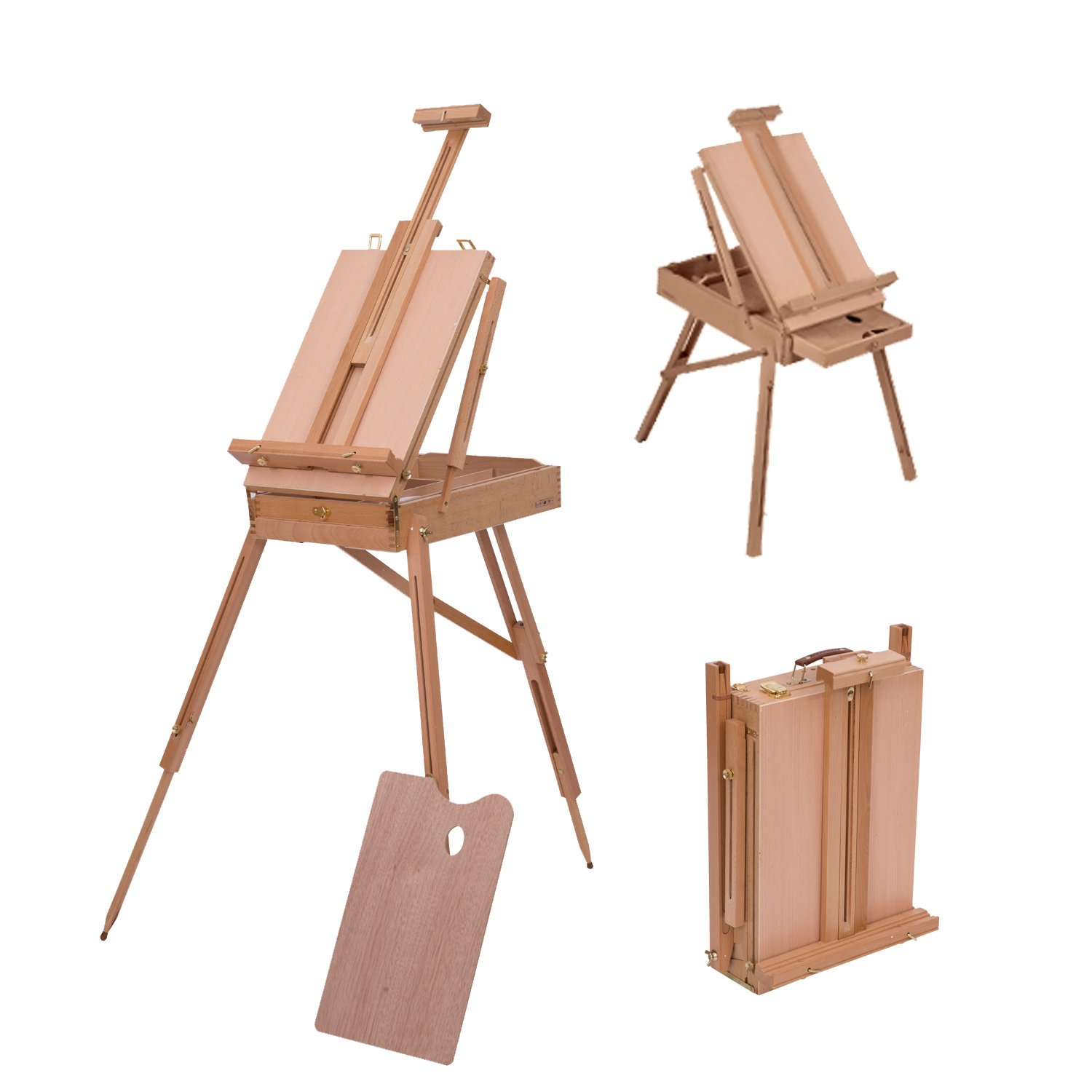 HOM Wooden Art Easel Tripod Sketch Artist Painters Craft