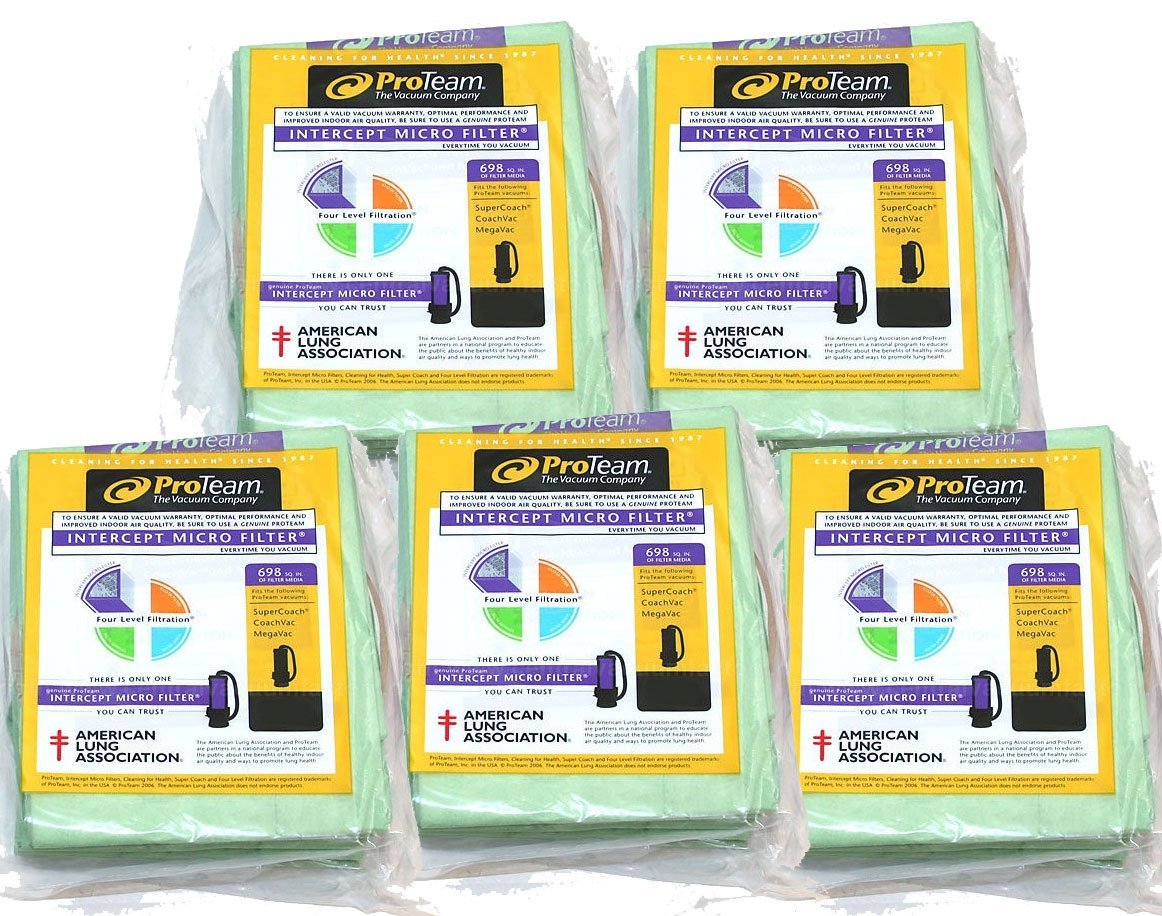 ProTeam 10 qt Backpack Bags - 5 Pack Bundle (100331) by ProTeam