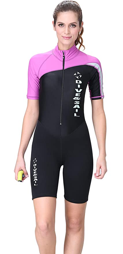 f3f2a55359 1.5mm Shorty Wetsuit for Women UV Protection Dive Skin Thermal Warm One  Piece Swimsuit Shorty