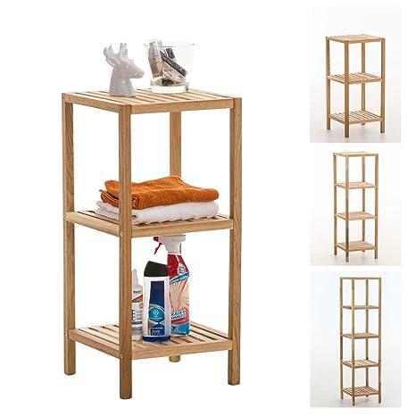 CLP Scaffale per bagno, legno color noce, scaffale per cucina ...