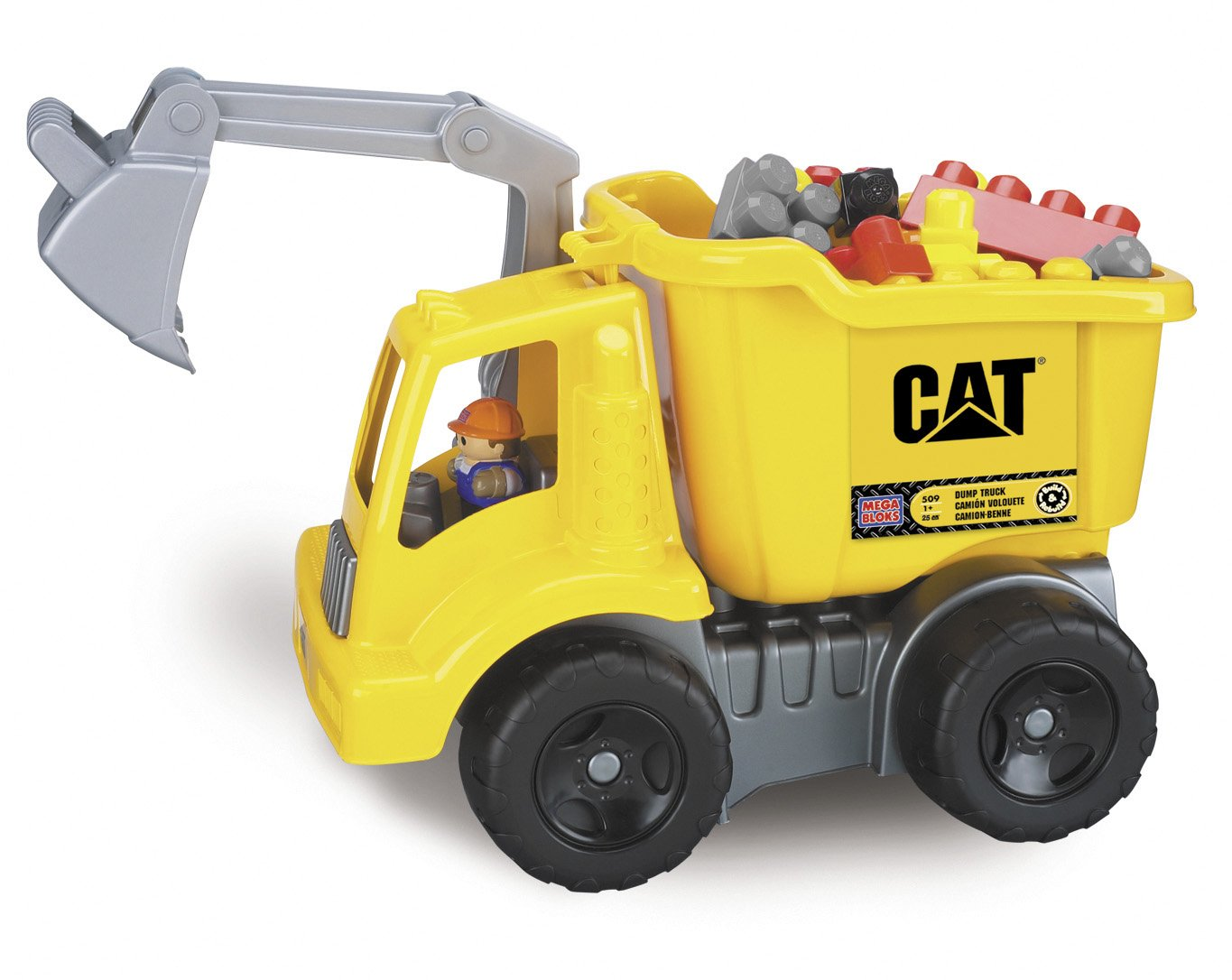 amazon com mega bloks cat large vehicle dump truck toys u0026 games