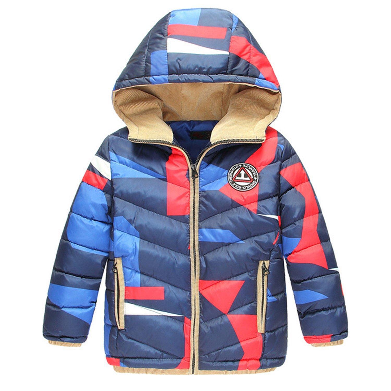 Amazon.com  Baqijian Kids Coat Winter European White Duck Down Jackets Boys  Camouflage Warm Hooded Jacket Children Blue Boys Coat Autumn  Clothing 23eaeb81e