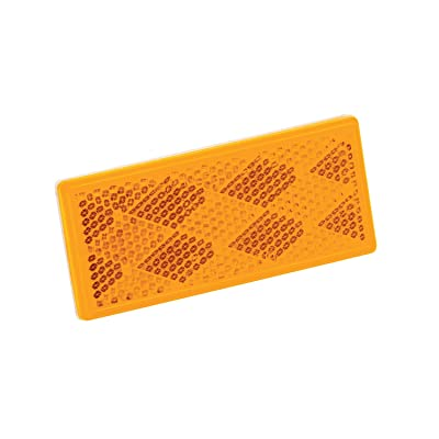 Wesbar 003357 Reflector with Adhesive Back - Amber: Automotive