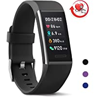 MorePro X-Core Fitness Tracker HR, Waterproof Color Screen Activity Tracker with Heart Rate Blood Pressure Monitor, Smart Wristband Pedometer Watch with Step Calories Counter, Silver/Black