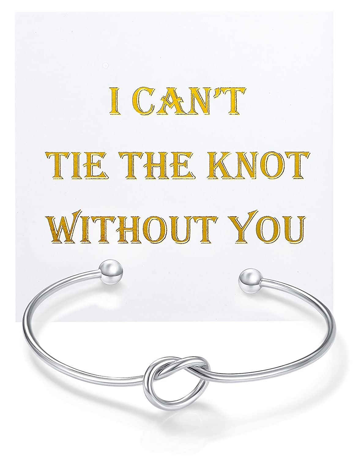 Amazon.com: Flower Girl Gifts Silver Bracelets, Bridesmaid Gifts ...