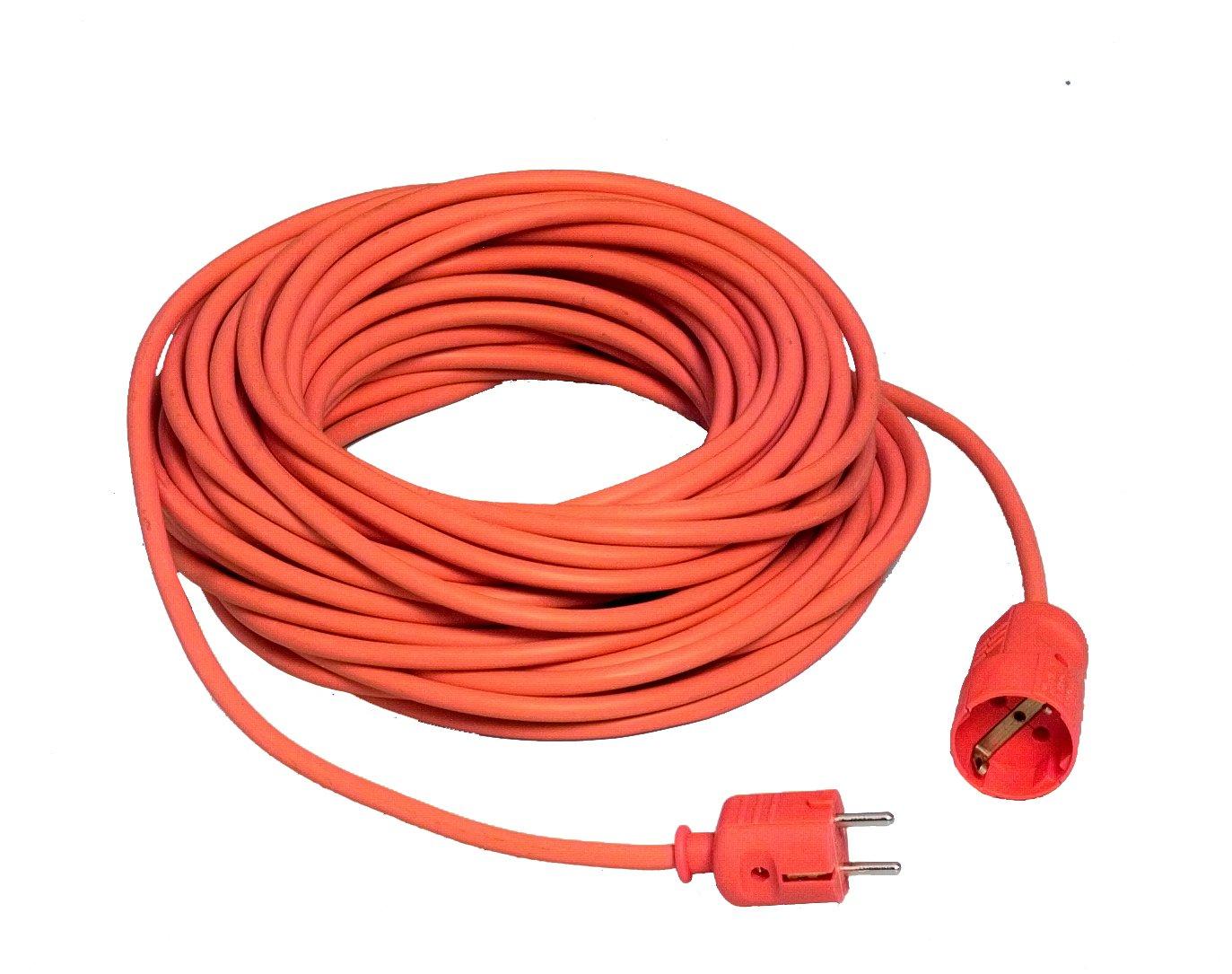 Unitec 46452SCHUKO EXTENSION H05VV-F 3G 1.5mm² 25m Orange