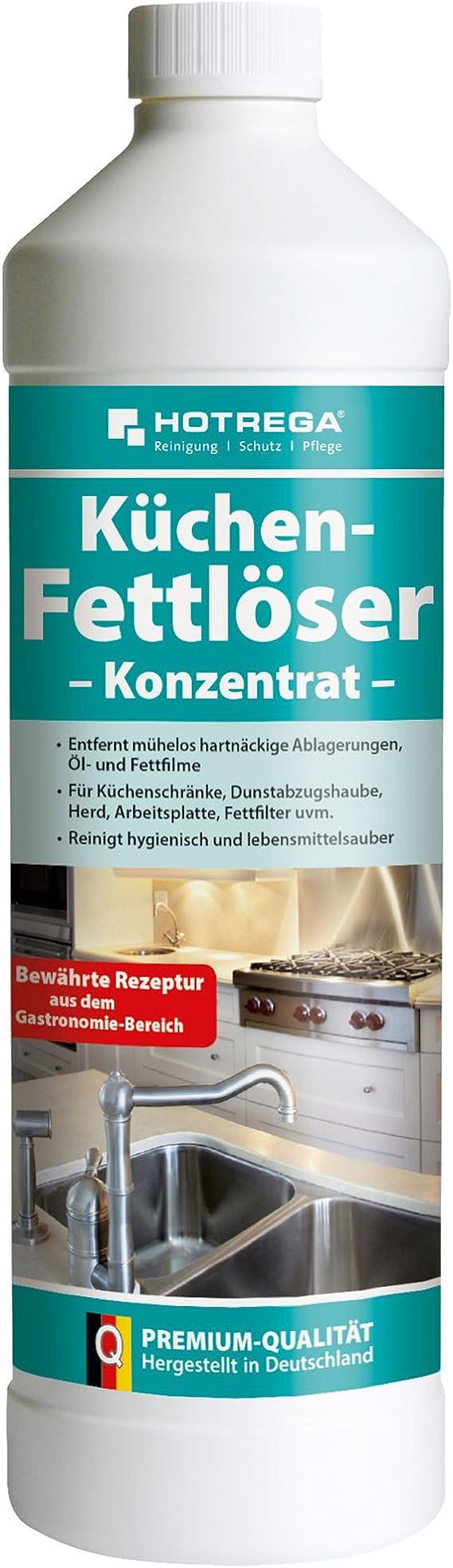 HOTREGA Küchen Fettlöser mühelos Öl und Fett Flecken entfernen  Küchenreiniger Küchen Entfetter 18ml
