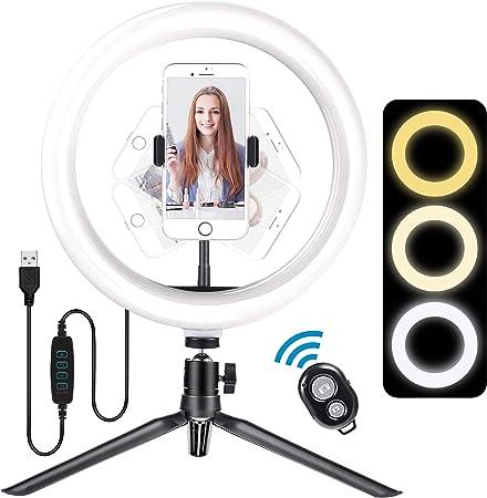 Meromore Ringlicht Mit Stativ 10 Zoll Led Selfie Kamera