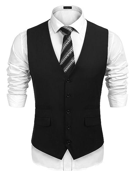 Amazon.com: jinidu boda de chaleco de traje de negocios ...