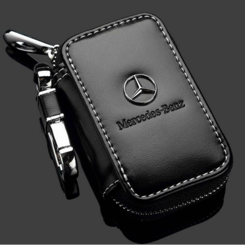 Ehortus Étui en cuir de vachette pour clés de voiture, clé personnalisée, élégant, porte-clés pour Mercedes