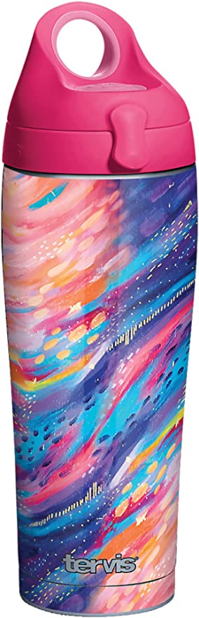 Amazon Com Tervis 1362582 Etta Vee Happy Abstract Insulated Tumbler 24oz Water Bottle Stainless Steel Tumblers Water Glasses