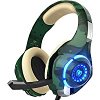 PS4 Gaming Headset with mic, Beexcellent Xbox One headset with Stereo Sound Noise Isolation Memory Foam LED light for PC…