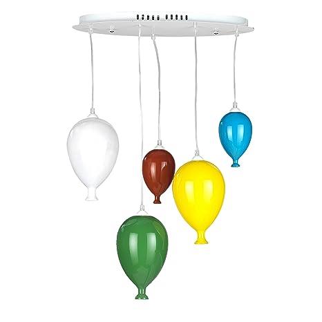 ONLI Lámpara de techo con globos de cristal de colores ...