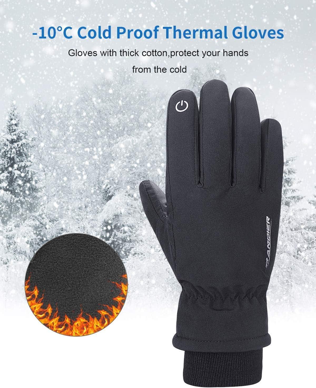 Camoro Gants dhiver pour Hommes et Femmes /à /écran Tactile Ski Chaud Gants Coupe-Vent froids
