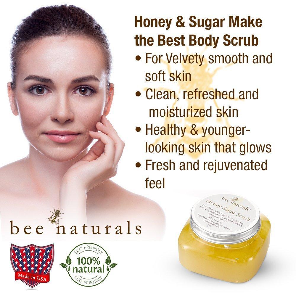 Amazon Com Bee Naturals Best Body Scrub Natural Honey Sugar