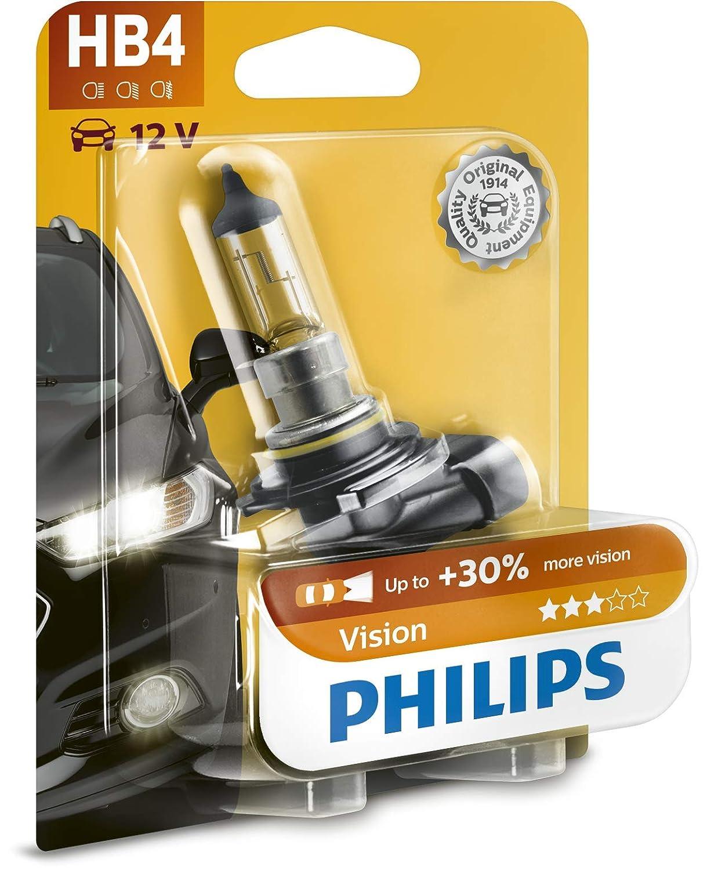 Philips 9006PRB1 Premium 1 unidad, 12 V, 51 W, P22d Bombilla HB4 para faros delanteros