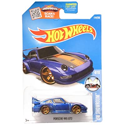 Hot Wheels 2016 HW Showroom Porsche 993 GT2 114/250, Blue: Toys & Games