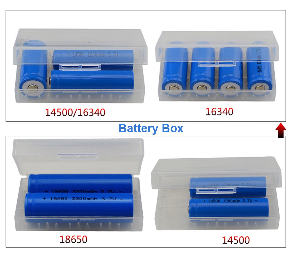 Details About 3 X Case 18650 Battery Box With Protection Circuit 37v 4pcs Batteries 3000mah Li Ion Rechargeable Usb Charger For 26650 14500 Widely Used Flashlight