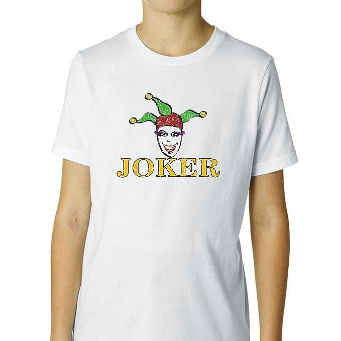 Juego de cartas Joker con diseño gorro de bufón - grandes jóvenes camiseta de algodón de impresión Boy: Amazon.es: Ropa y accesorios