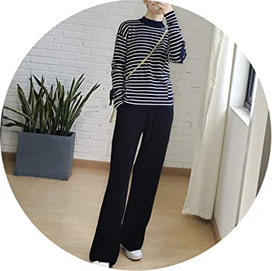 Soft Cashmere Pants Pure Knitted Wide Leg Pants Casual Loose Knitted Pants Women