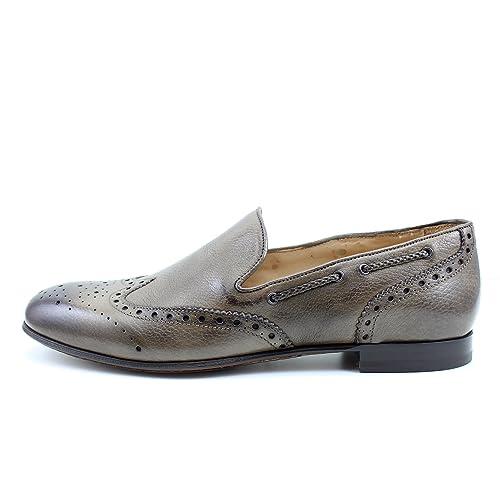 Giorgio Rea Zapatos Para Hombre Marrón Elegante Hombre Zapatos Hecho A Mano EN Italia Cuero Real Brogue Oxfords Richelieu Mocasines: Amazon.es: Zapatos y ...