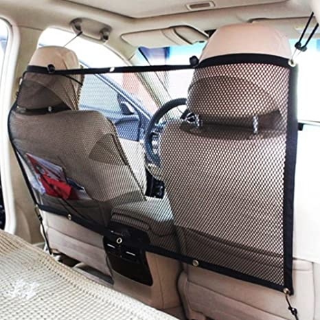 Barrera de aislamiento para asiento trasero de coche, para mascotas, gatos, protección de