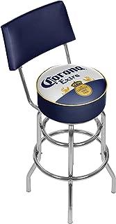 Trademark Gameroom Corona Swivel Padded Swivel Bar Stool with Back