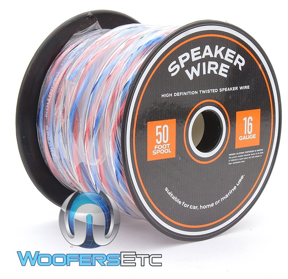 50 Foot Spool True 16 Gauge High Definition Twisted Speaker Wire