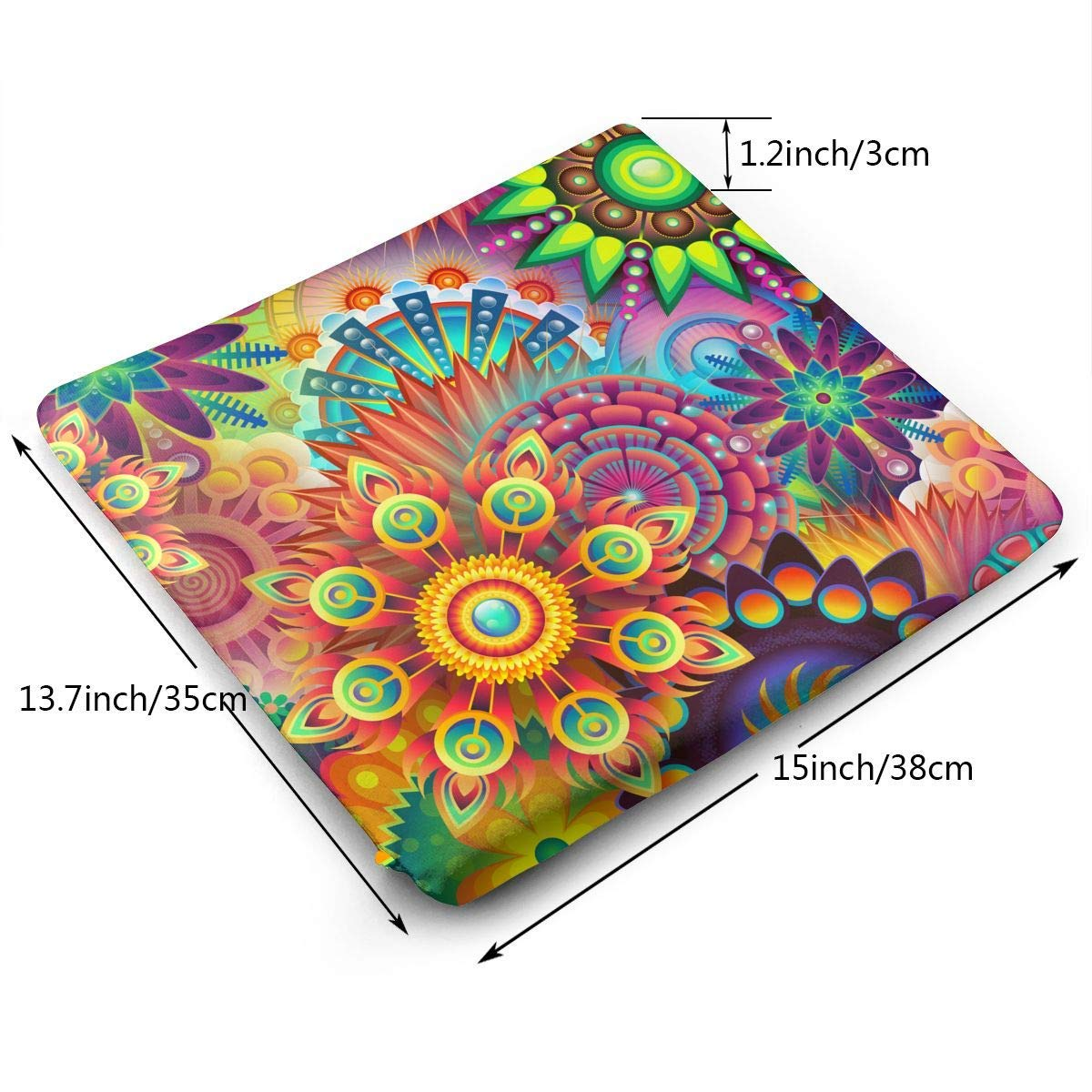 Psychedelic Pattern,Memory Foam Square Chair Pad Cover Fashion Seat Cushion by HOTSELL-Makemoney.forever (Image #2)
