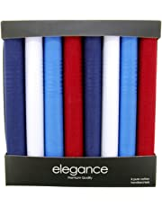 Retreez 8 Piece Pure Cotton Assorted Men's Handkerchiefs Hanky Gift Box Set, Christmas gift - Assorted Set A5A003