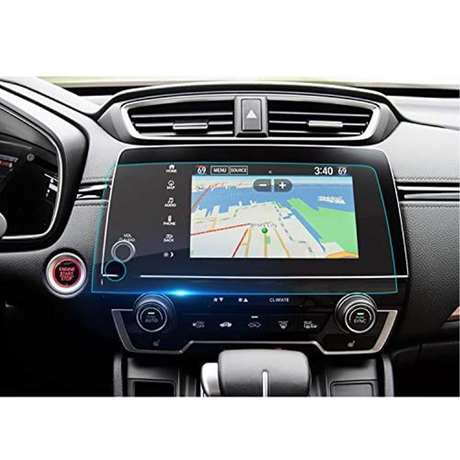 LFOTPP Fit for 2017 2018 2019 2020 2021 CRV EX EX-L Touring 7-Inch Car Navigation Screen Protector, Clear Tempered Glass Infotainment Display In-Dash Center Touch Stereo Screen Protector