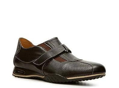 e3292705e8 Cole Haan Men's Nike AIR Estadio Strap II Slip On Sneaker Dark Brown Leather  (7
