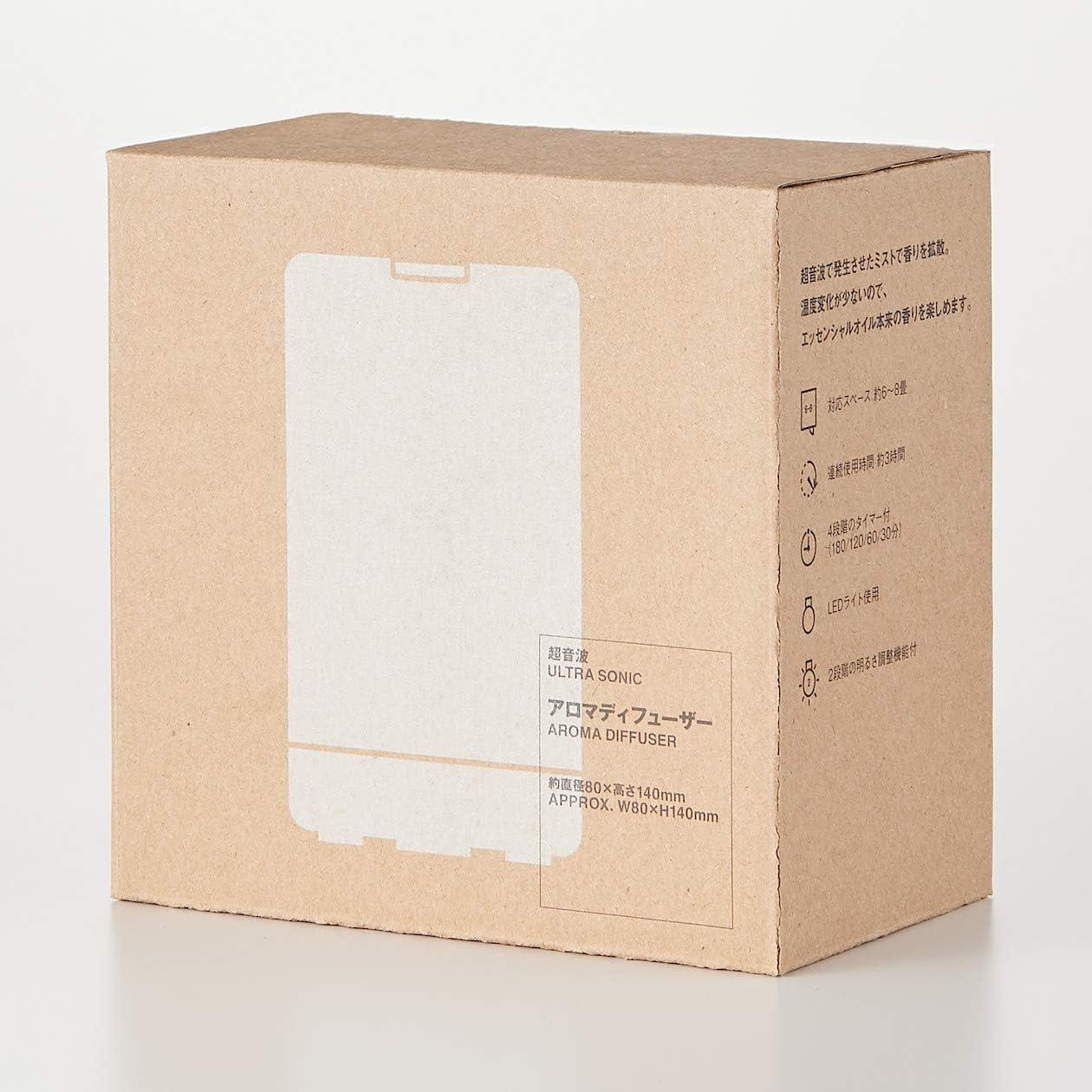 無印良品 超音波アロマディフューザー 約直径80×高さ140mm 82240764