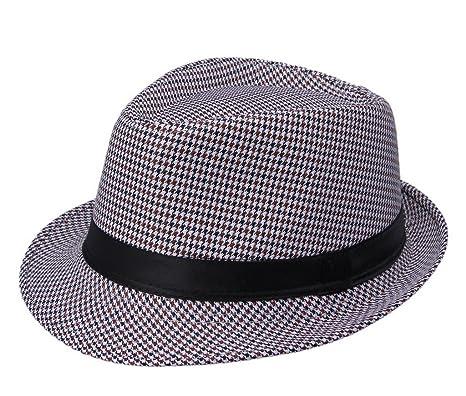 COMVIP Trilby Gangster Mafia Fedora Panama Hat Beach Sun Jazz Cap  A 6e33ba63f26a