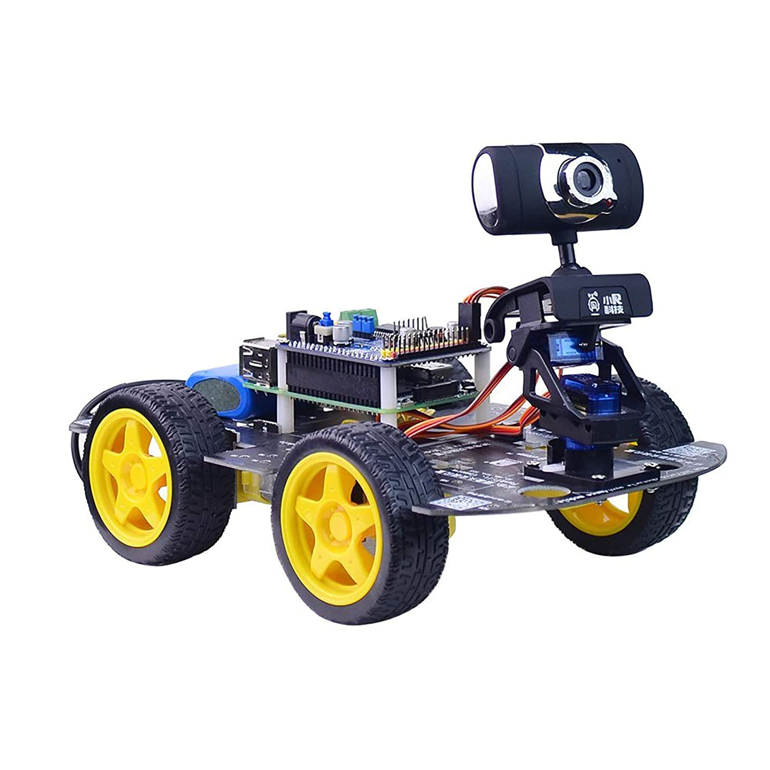Finished STM32 2WD Self Balancing Robot Car 2-DOF PTZ for Android iOS PC Wifi xs