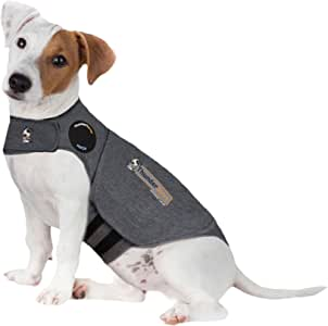 "Thundershirts Dog Calming and Anxiety Jacket, Small 16""-23"", Heather Grey, Small 16""-23"""