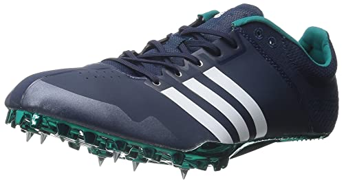 88f98bb7eab5 adidas Performance Adizero Finesse Running Shoe with Spikes Collegiate  Navy White Green 8.5 M US  Buy Online at Low Prices in India - Amazon.in