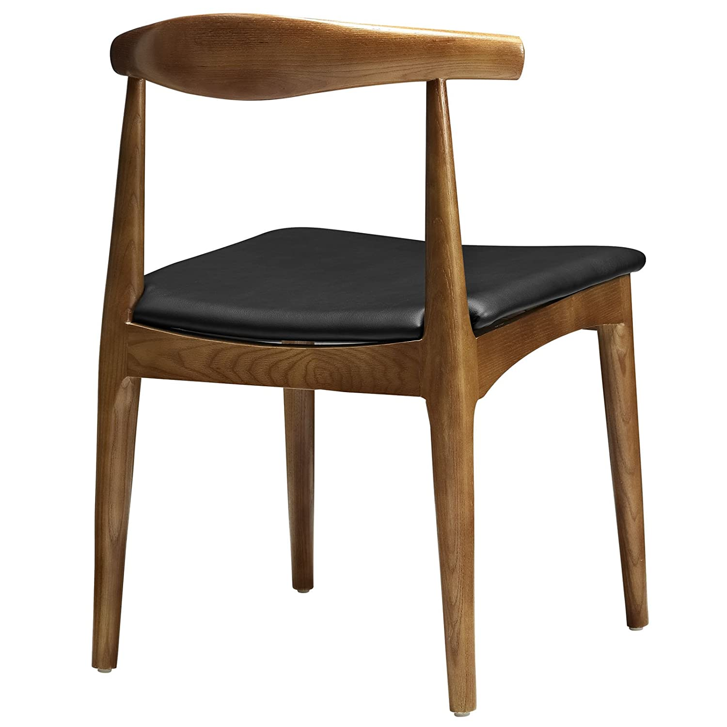 Modway Hans Wegner Style Elbow Dining Side Chair With Faux Leather Seat:  Amazon.ca: Home U0026 Kitchen