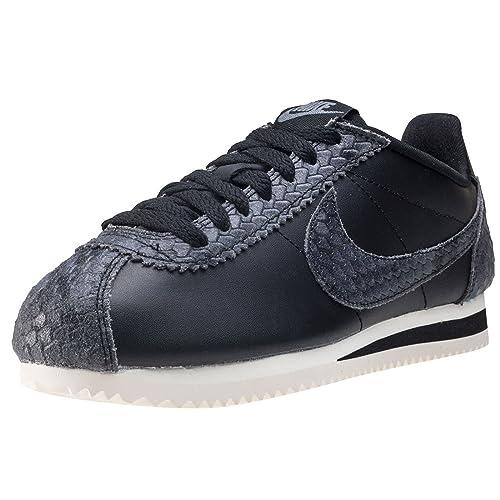 Zapatillas Nike Classic Cortez PRM Negro Mujer 39 Negro: Amazon.es: Zapatos y complementos