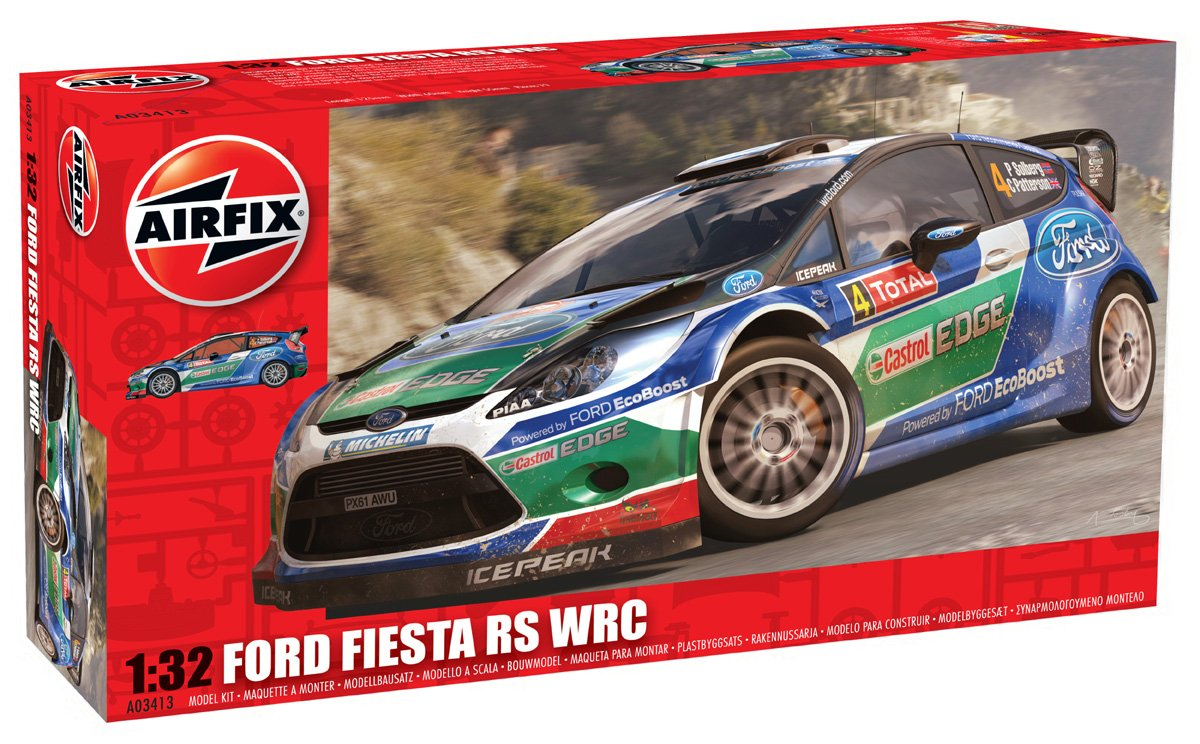 Amazon.com: Airfix Ford Fiesta RS WRC Car Building Kit, 1:32 Scale ...